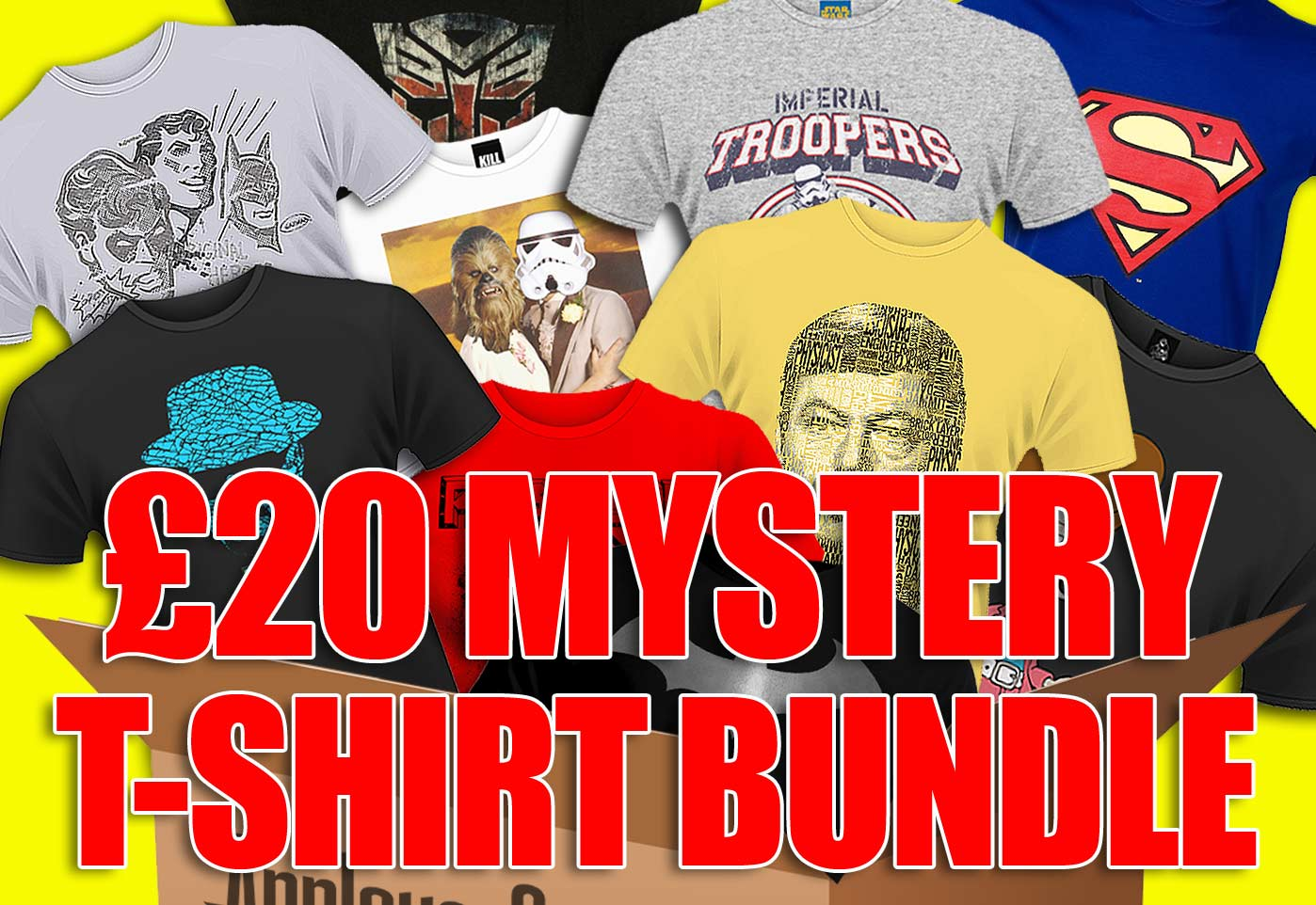 £20 Mystery T-Shirt Bundle