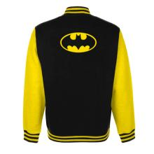 BATMAN - LOGO VARSITY JACKET - BLACK & YELLOW