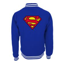 SUPERMAN - LOGO COLLEGE JACKET - BLUE