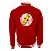 THE FLASH - LOGO RED COLLEGE JACKET