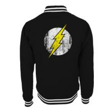 THE FLASH - BLACK LOGO BLACK COLLEGE JACKET