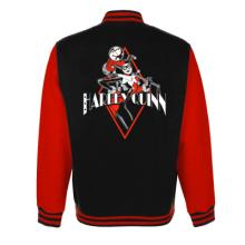 HARLEY QUINN - VARSITY JACKET - BLACK DIAMOND