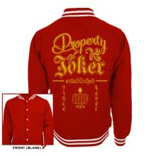 SUICIDE SQUAD - PROPERTY OF JOKER UNISEX COLLEGE JACKET
