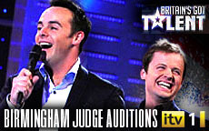 BRITAINS GOT TALENT 2012 - BIRMINGHAM - FRIDAY